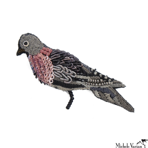 Field Pigeon Brooch Pin