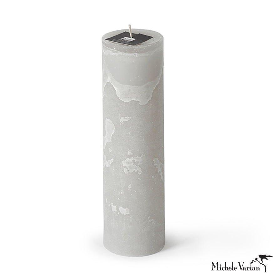 Pillar Candle in Linen