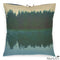 Printed Linen Pillow Pine Reflection Green 22x22