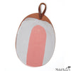 Blot Painted Clay Oval Platter in Pink