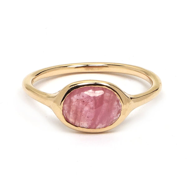 Pink Sapphire Slice Ring