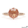 Rose Gold Peach Topaz Ring