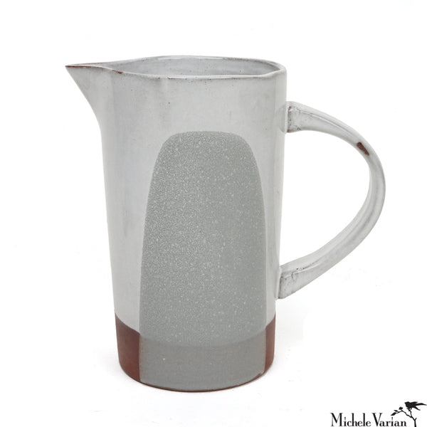 Blot Painted Pitcher in Grey