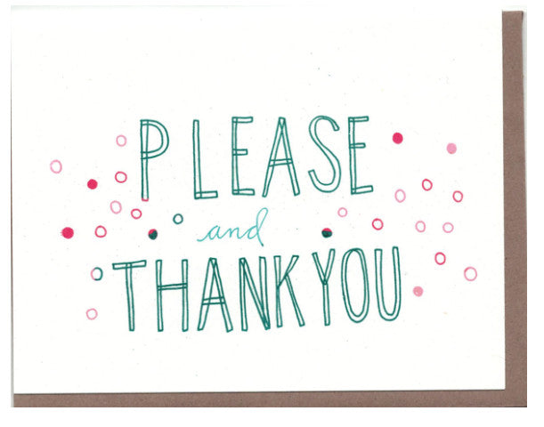 Please and Thank You Card