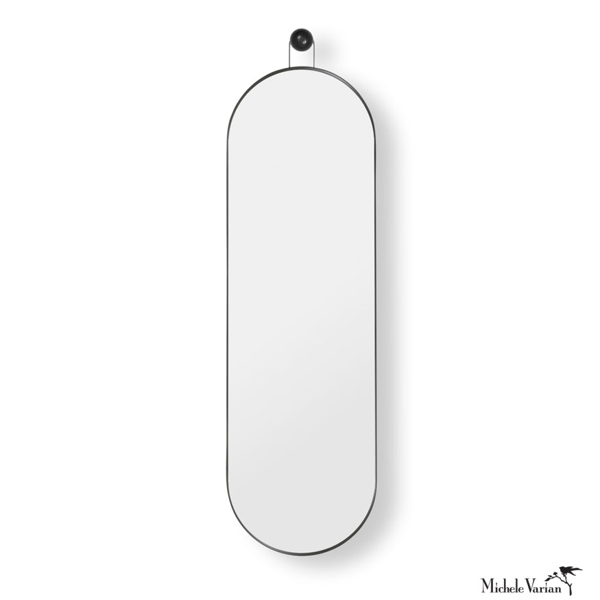 Black Poise Wall Mirror