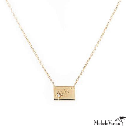 Gold Postcard Shooting Star Necklace
