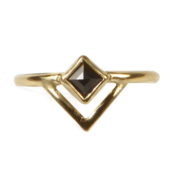 Princess Cut Onyx Ring