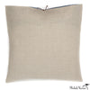 Printed Linen Pillow Arcs Plum 22x22