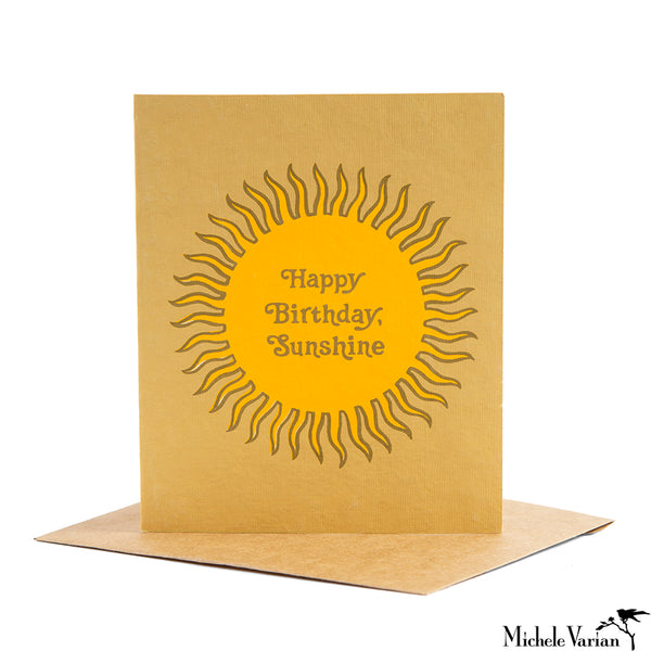 Birthday Sunshine Card
