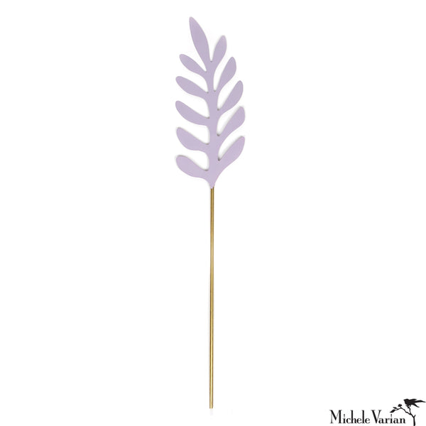 Lavender Flower Brass Ornament