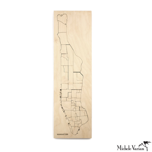 Laser-cut Birch Borough of Manhattan Puzzle