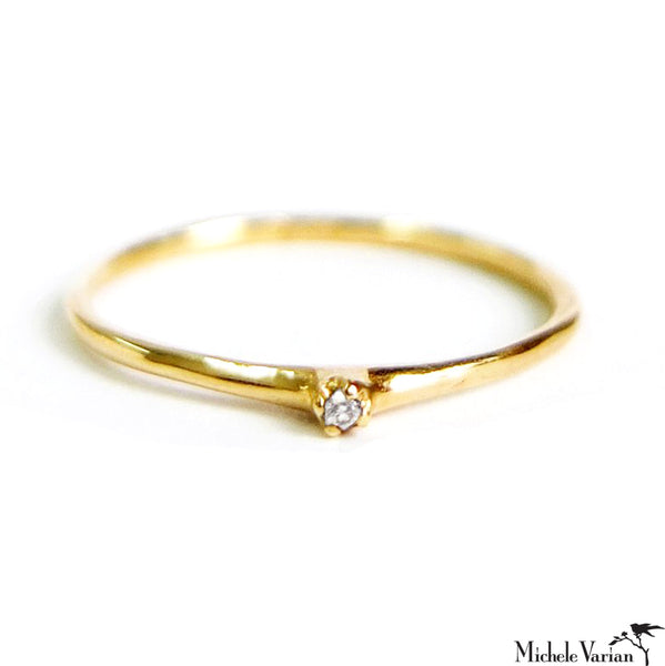 Simple Diamond Ring