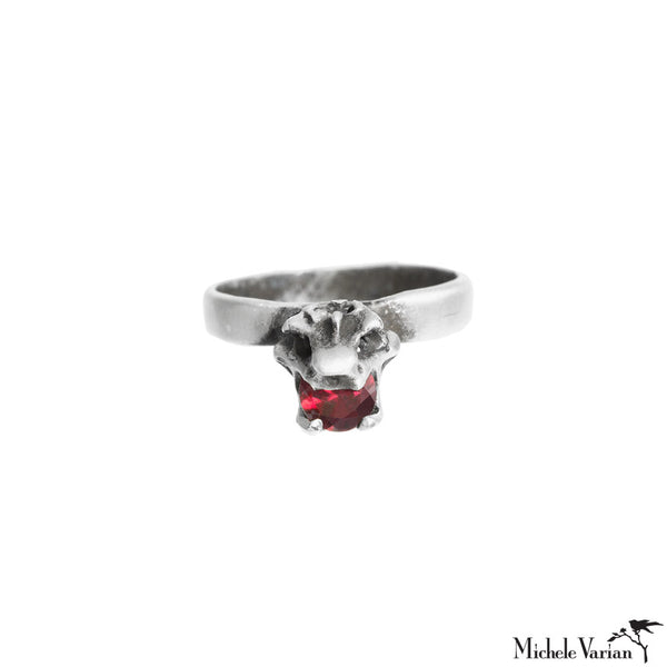 Crown Vertebrae Silver Ring