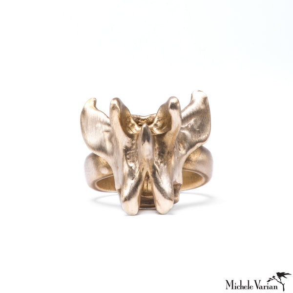 Large Vertebrae Brass Ring
