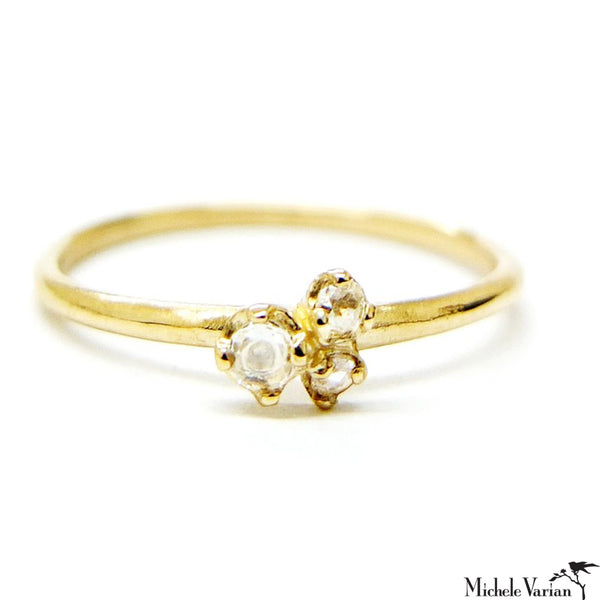 Rosecut Trio Diamond Ring