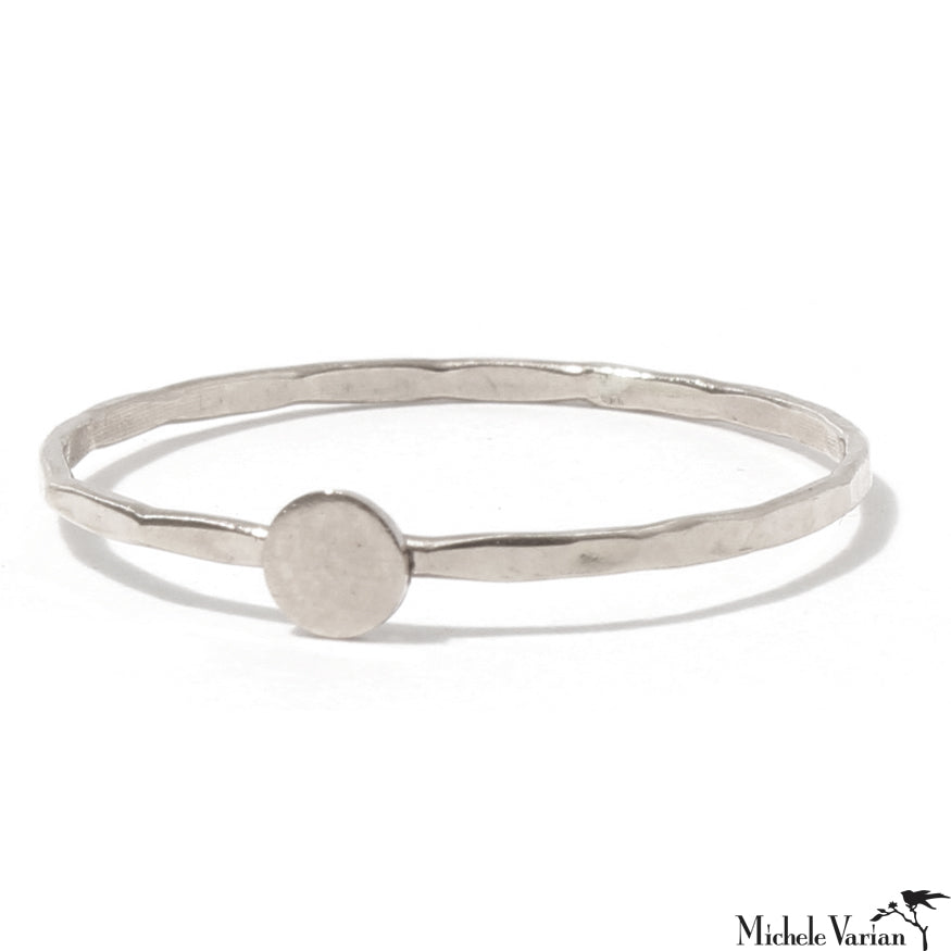 Sterling Silver Solid Circle Ring