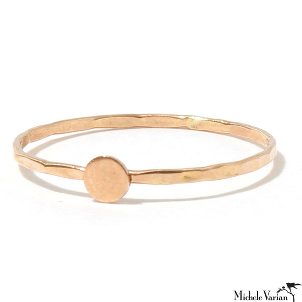 Gold Solid Circle Ring