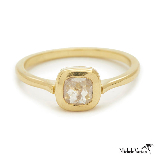 Rosecut Diamond Shape #2 Gold Ring