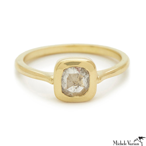 Rosecut Diamond Shape #9 Gold Ring