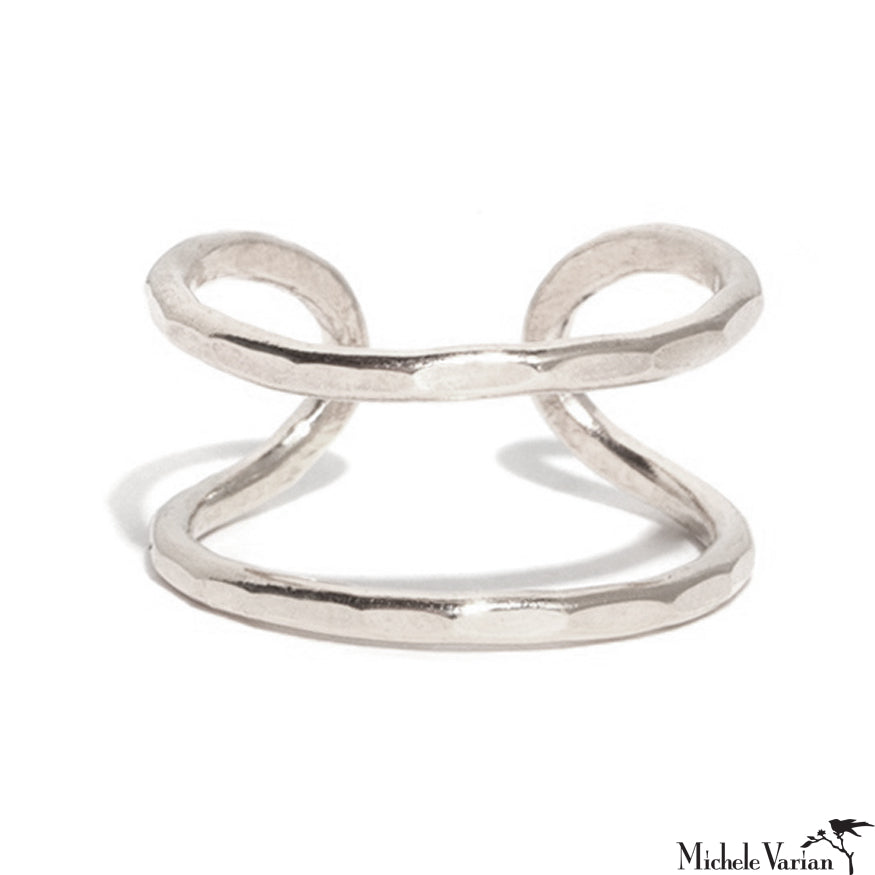 Sterling Silver Double Open Ring