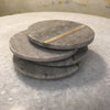 Round Marble Coasters with Brass Inlay