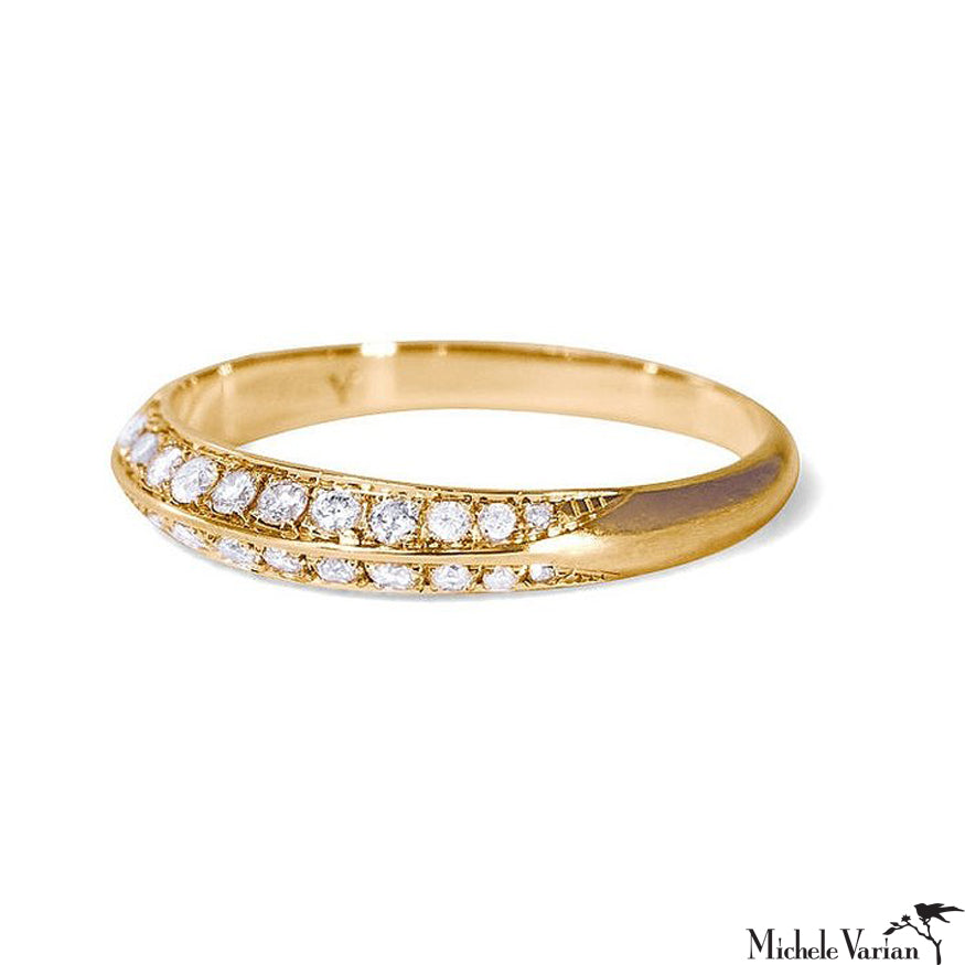 Gold and Diamond Rachis Ring