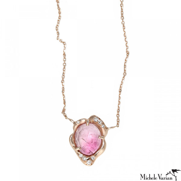 Tourmaline Rose Gold Necklace