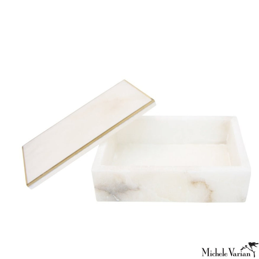 Alabaster Jewelry Box Rectangle