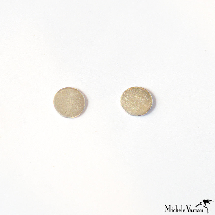 Gold Large Reflection Stud Earrings