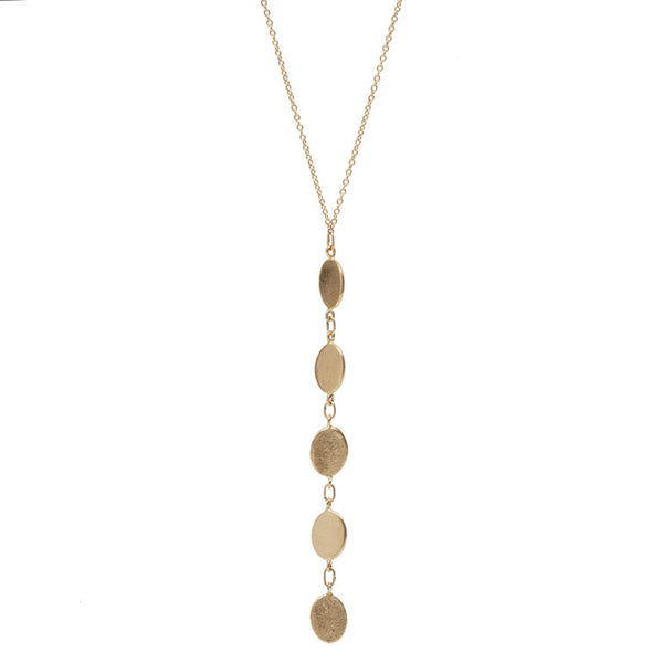 Reflection of Five Necklace Gold
