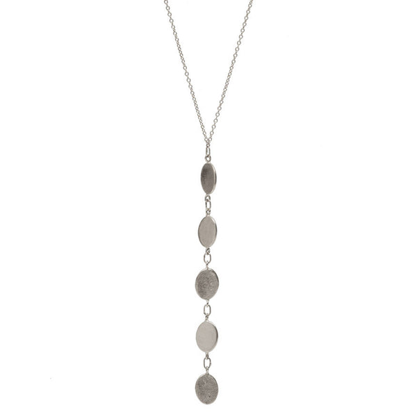 Reflection of Five Lariat Necklace Silver
