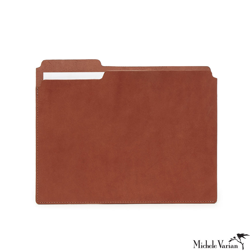 Reinvented Letter Size Manila Style Folder in Leather