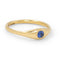 Gold Dome Ring With Blue Sapphire