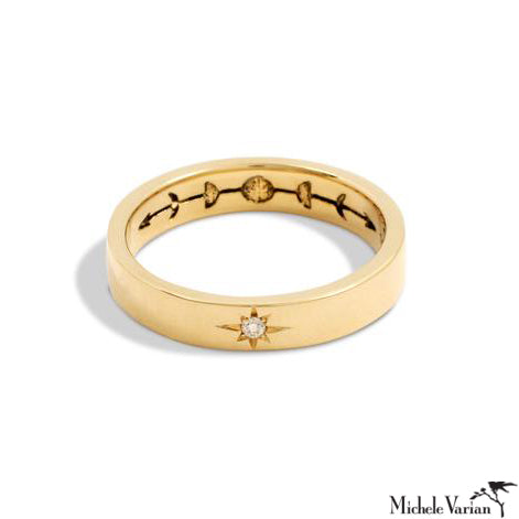Sun and Moon Gold Ring