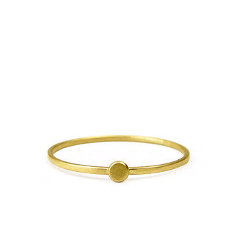 Dainty Gold Dot Ring