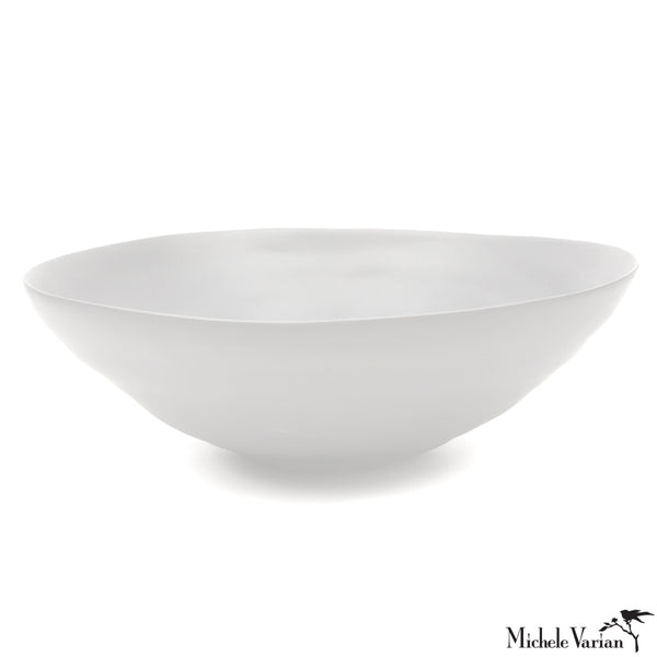 Matte Porcelain Serving Bowl White - Extra Large