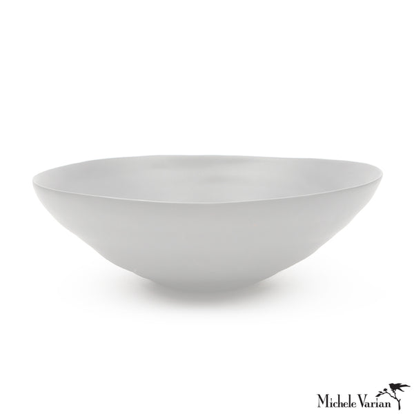 Matte Porcelain Cereal Bowls White Set of 4