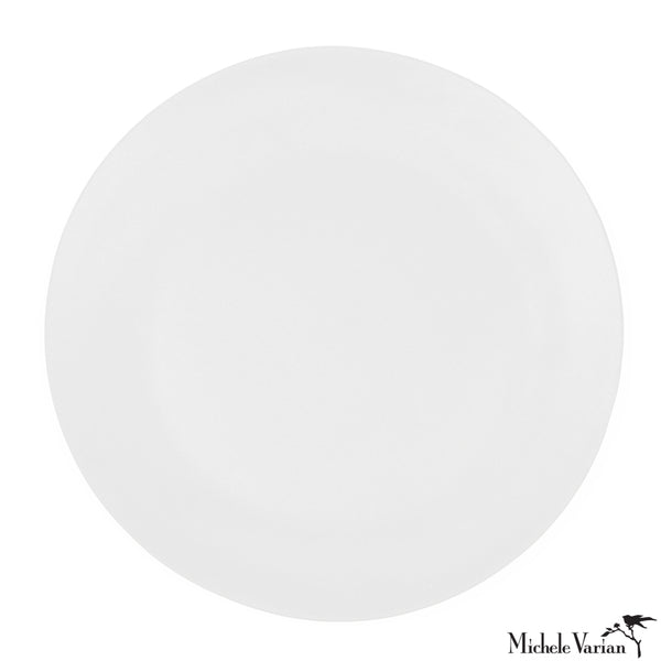 Matte Porcelain Dinner Plate White Set of 4