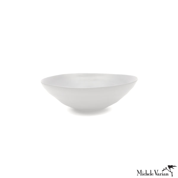 Matte Porcelain Fruit Bowls White Set of 4