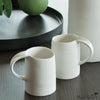 Matte Porcelain Mug White Set of 4
