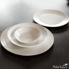 Matte Porcelain Pasta Plate White Set of 4