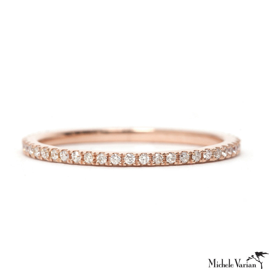 Ultra Thin Rose Gold Eternity Band