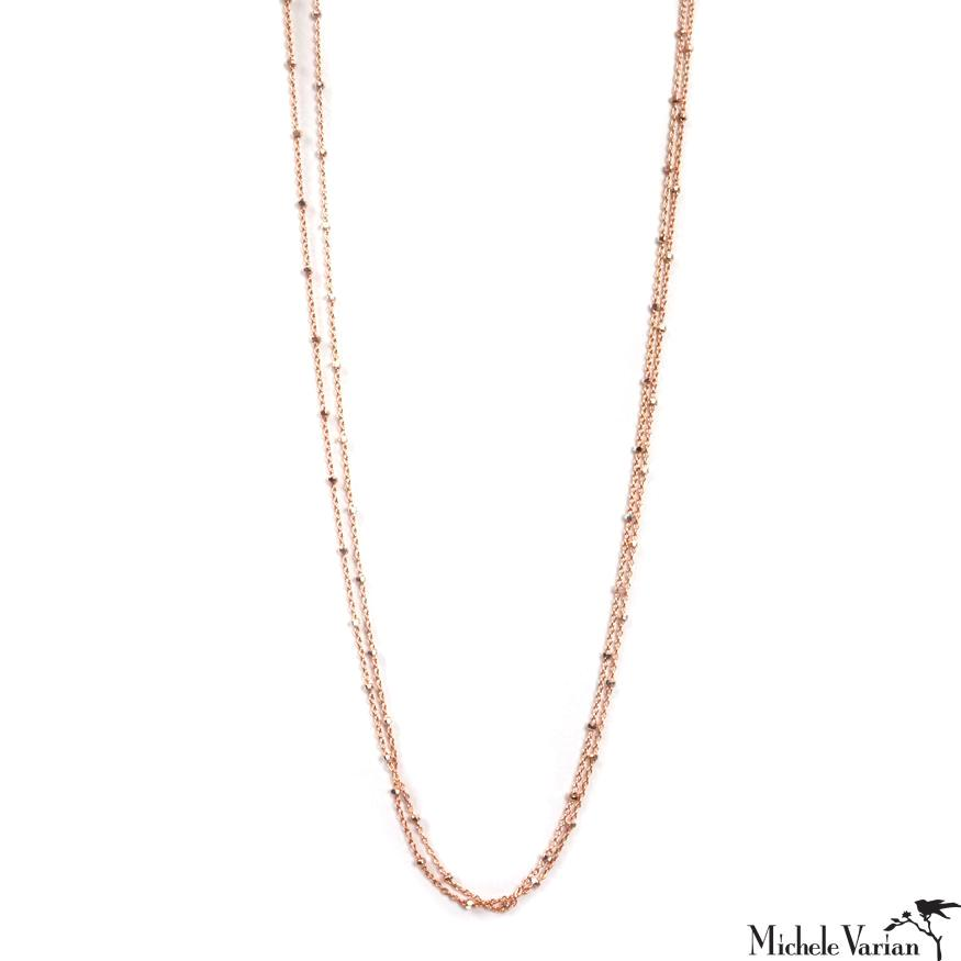 Rose Gold Filled Long Eclipse Necklace