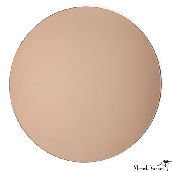 Rose Gold Round Mirror