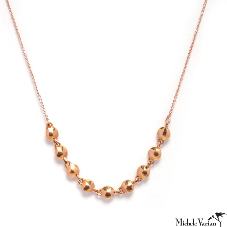 Rose Gold Nuggets Necklace