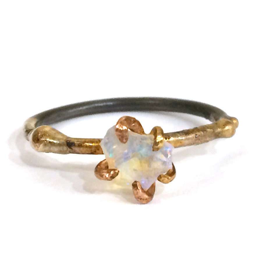 Rough Cut Opal Ring