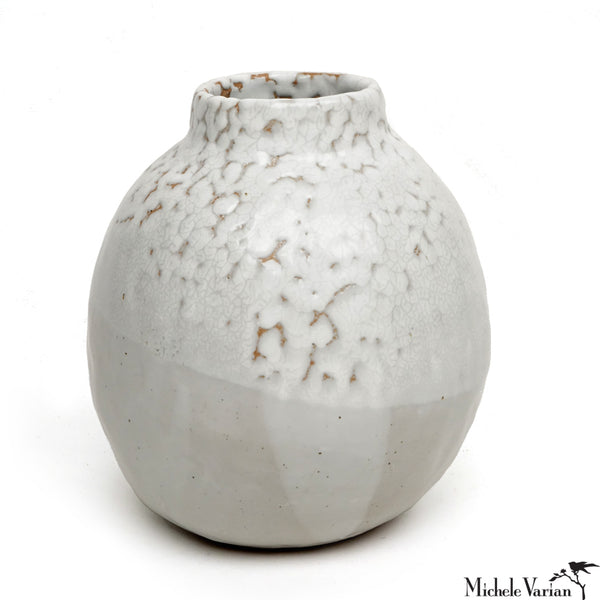 Winter White Glazed Vase