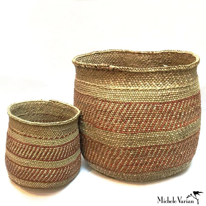 Traditional Baskets Rust and Tan
