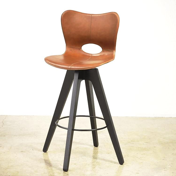 Leather Saddle Barstool
