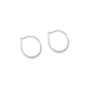 SHS Small Round Forged Sterling Silver Hoops